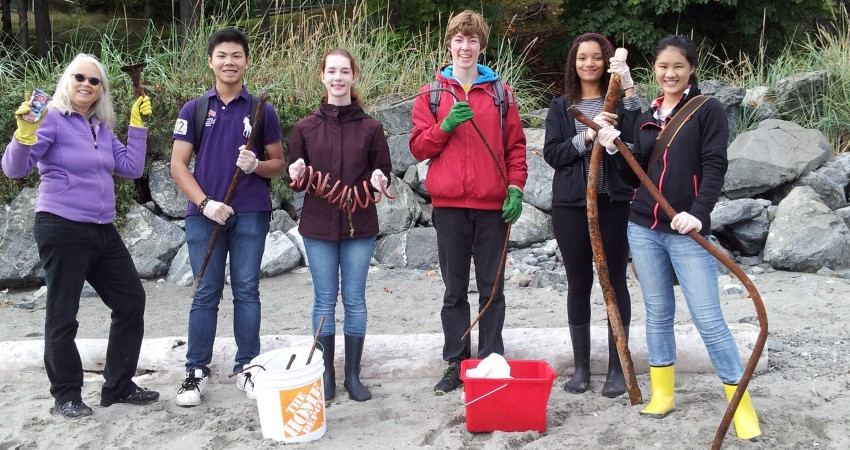 Mount Doug Eco Club – Shoreline Clean-up
