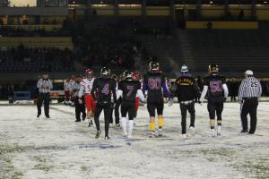 football in snow